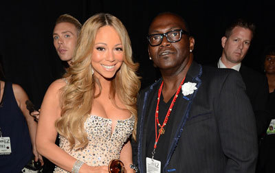 Mariah with Randy Jackson