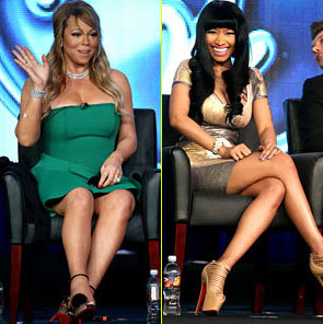 Mariah Carey and Nicki Minaj at the interview