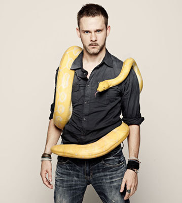 Dom with a snake friend