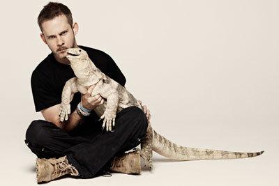 Dom with a really big lizard