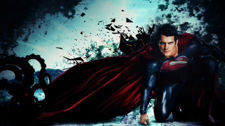Superman ready for action