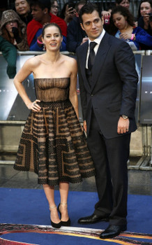 Amy (Lois) and Henry (Superman) on the red carpet