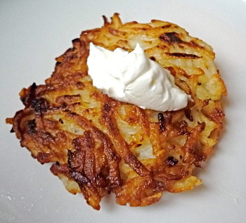 Potato Latkes are a traditional celebration food