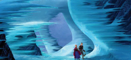 Anna and Kristoff search for her sister Elsa