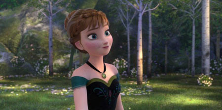 Anna dressed up for her sister's coronation as queen