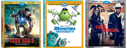 Iron Man 3, Monsters University and The Lone Ranger are all great gifts