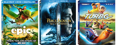 Epic, Percy Jackson and Turbo Blu-ray are the perfect gifts