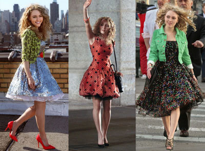 AnnaSophia in '80's outfits