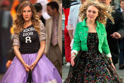 The two Carries (Sarah Jessica Parker and AnnaSophia Robb)