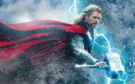 Thor with the famous hammer