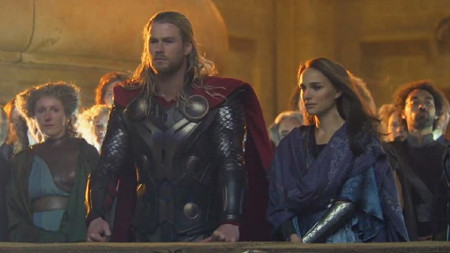 Thor and Jane on his homeworld