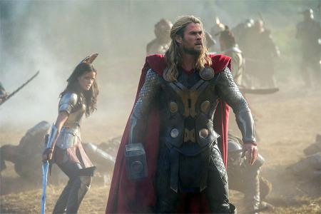 Thor in battle