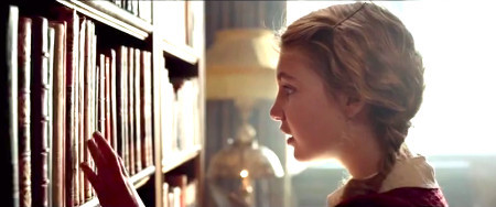 Liesel in the rich neighbor's library