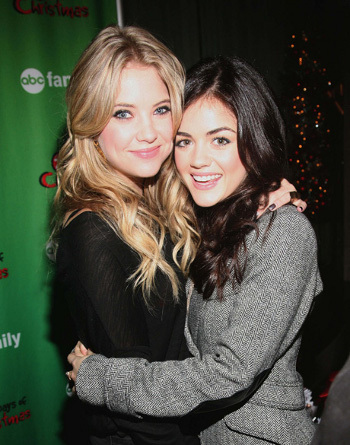 Ashley Benson and Lucy Hale hug it out