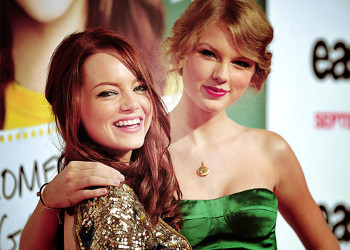 Emma Stone and Taylor Swift on the red carpet