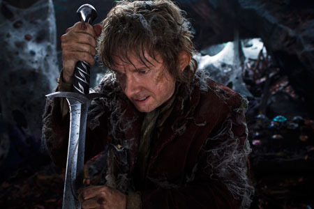 Bilbo in Smaug's cave