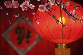 Red is a lucky color in Chinese culture