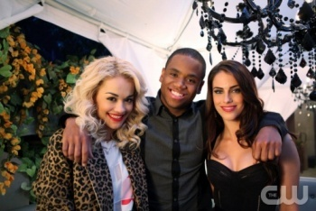 Dixon and Adrianna with Rita Ora