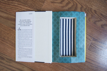 Use Patterned Paper to Decorate Your Hideaway Book