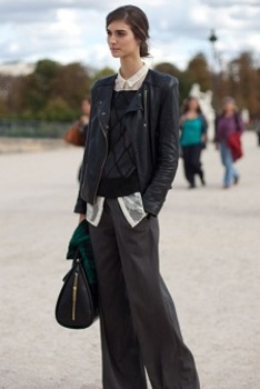 Paris Fashion Week, 2013: designers are in love with leather from top to bottom.