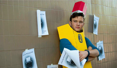 Chris in his home-made pencil costume
