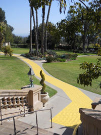 The Yellow Brick Road at the hotel