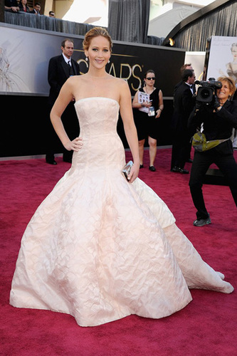 Jennifer Lawrence in Dior Couture looking like a princess