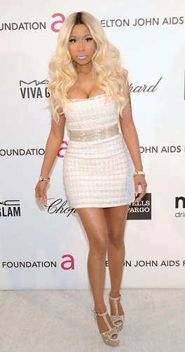 Nicki Minaj in a yikes! dress