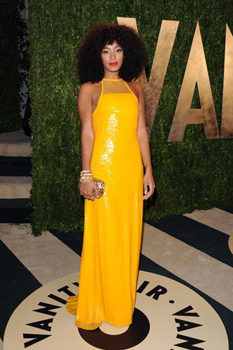 Solange Knowles wows in canary yellow