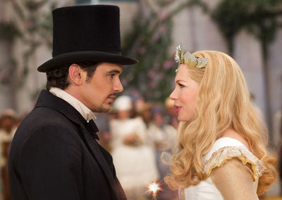 James as Oz with Glinda the Good Witch (Michelle Williams)