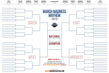 NCAA March Madness 2013 Bracket