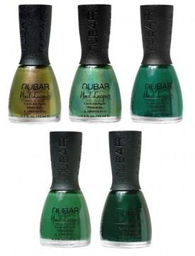 All shade of green nail polish!