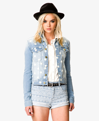 Star-print denim jacket from Forever 21, $24.75