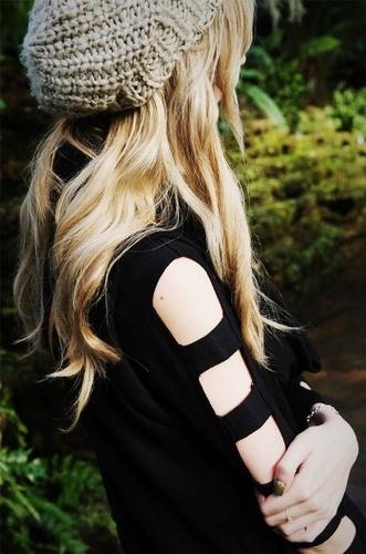 Fashion: Black Shirt with Cutouts