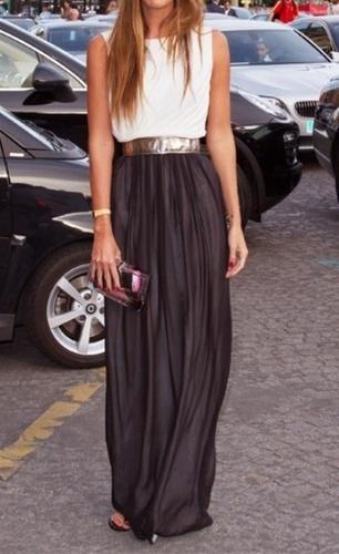 Fashion: Black Maxi Skirt