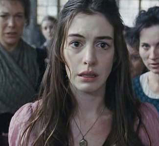 Anne Hathaway as the pitiful Fantine