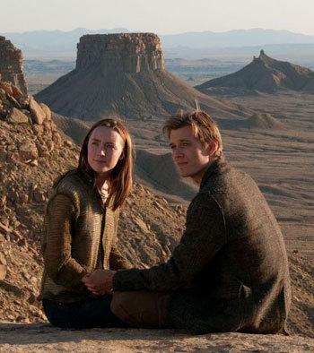 Jake as Ian with Saoirse as Melanie/Wanda