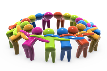 Teamwork Huddle