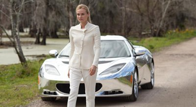 Seeker Diane with one of the chrome cars