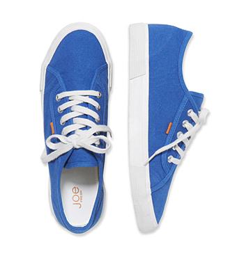 Blue sneakers, $24