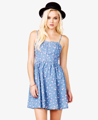 We love this printed dress from Forever 21, $18.75