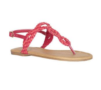 Pink braided sandals, $19.50