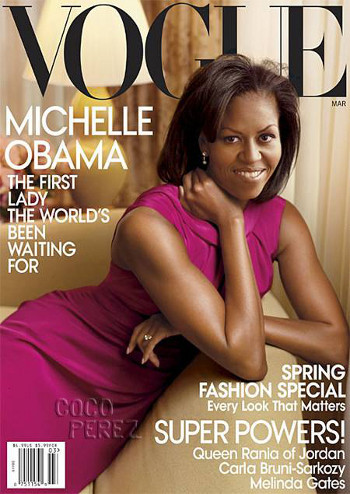 Michelle was on the cover of Vogue!