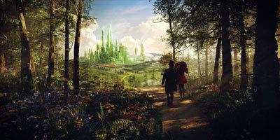 Oscar and Theodora on way to Emerald City
