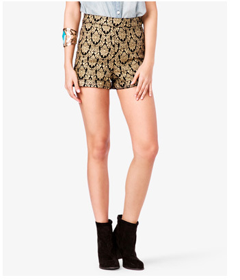 Forever 21 gold shorts, $19.80