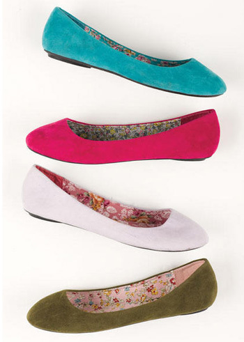 Delia's bright shoe selection, $19