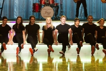 The Glee Club Performing in Artie's Movie