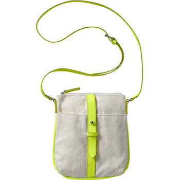 Old Navy neon yellow canvas bag, $14