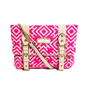 River Island bright pink satchel, $40