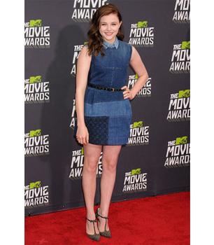 We love Chloe Grace Moretz's adorable denim dress!